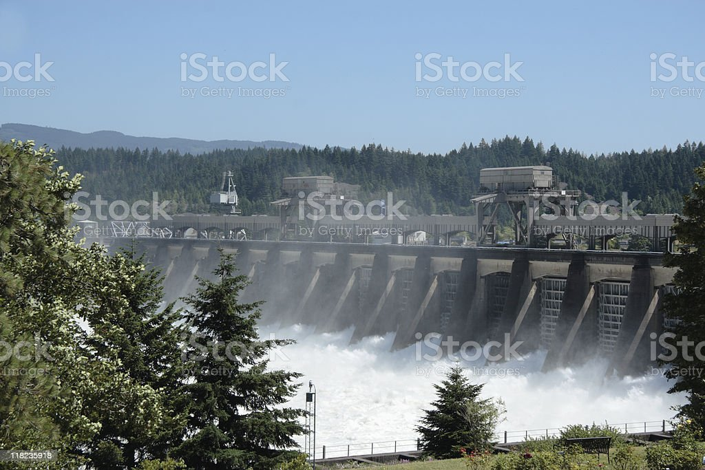 Bonneville Dam stock photo