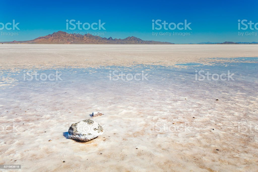 Bonneville Salt Flats stock photo