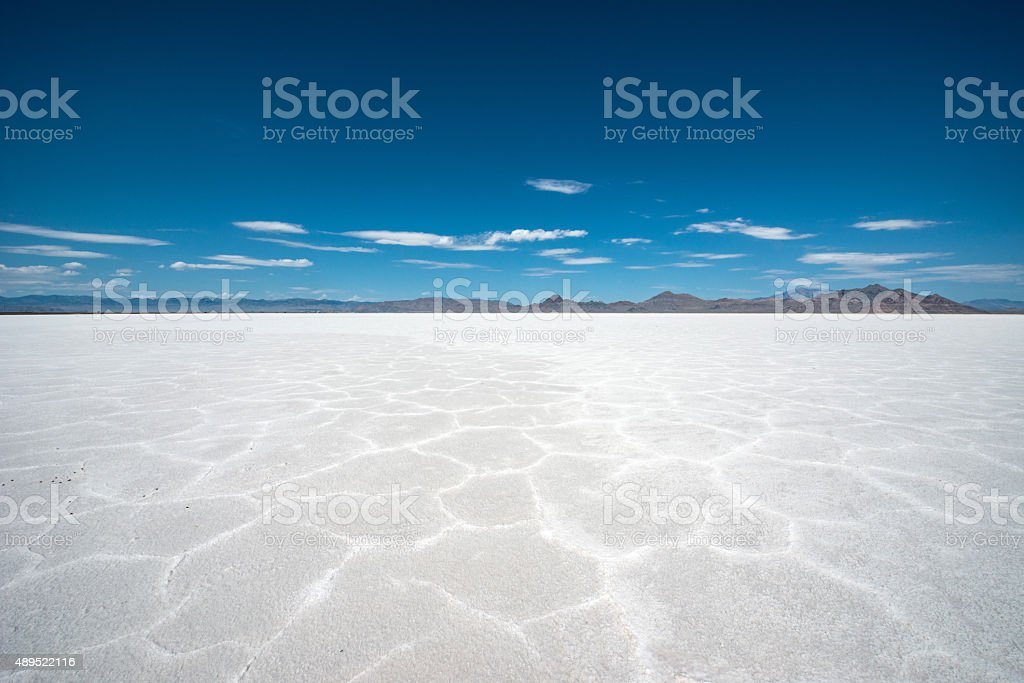 Bonneville salt flats, Utah stock photo