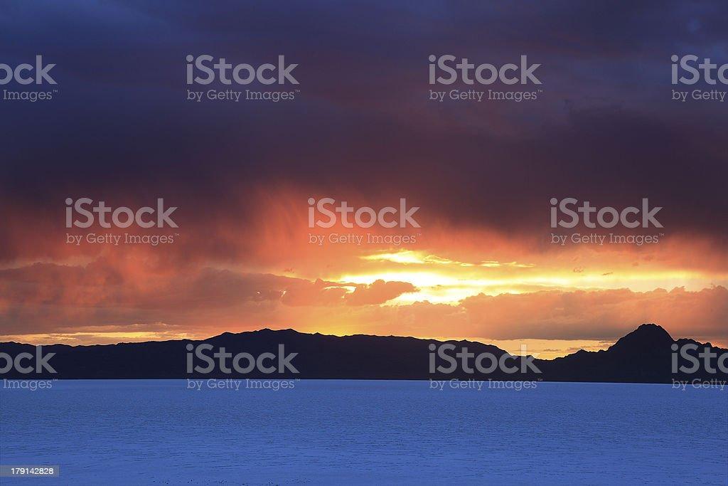 Bonneville Sunset stock photo