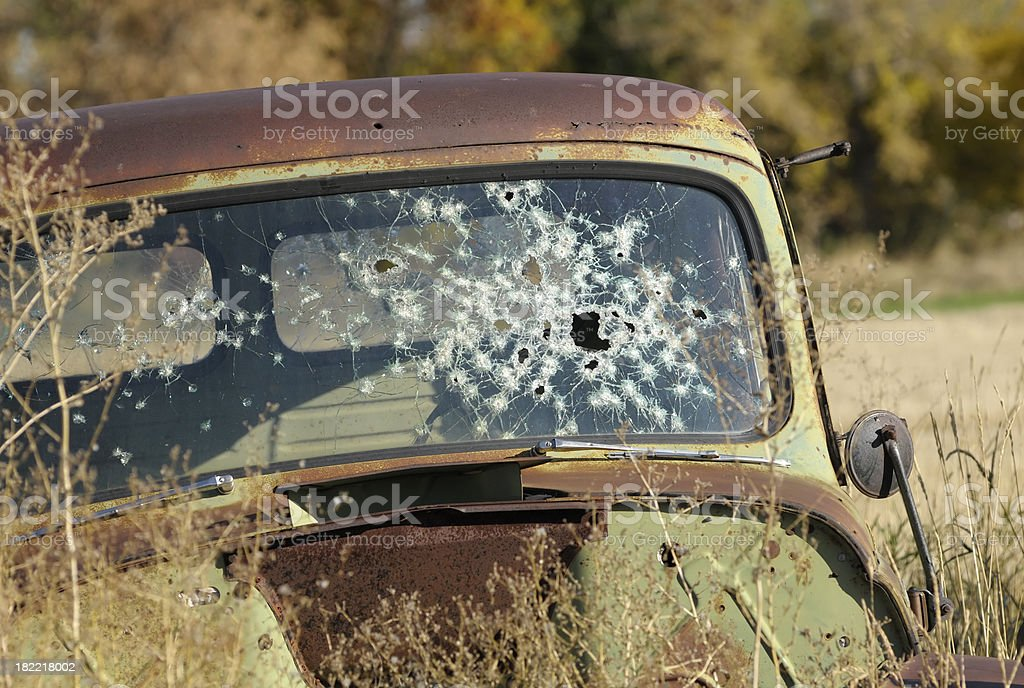 Bonnie and Clyde car stock photo