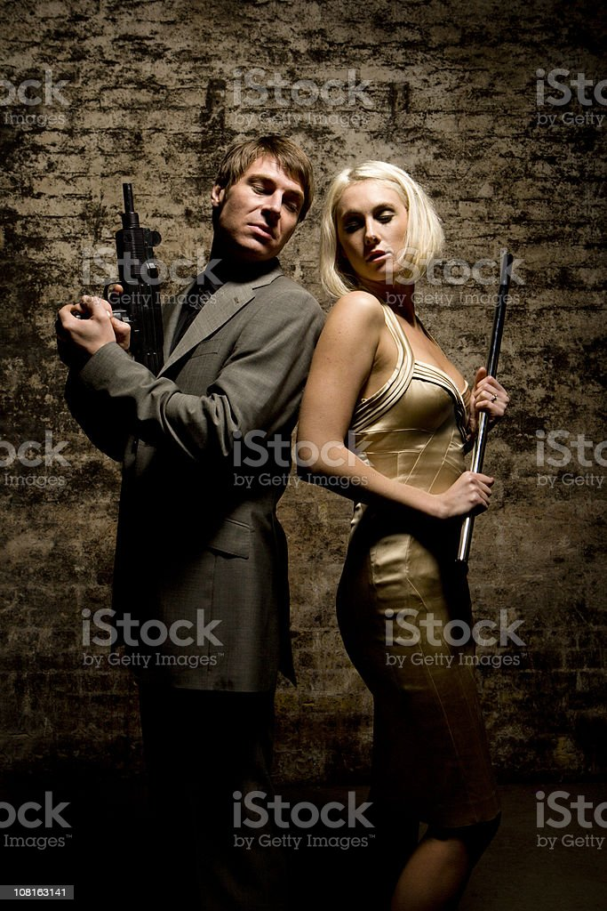 bonnie and clyde royalty-free stock photo