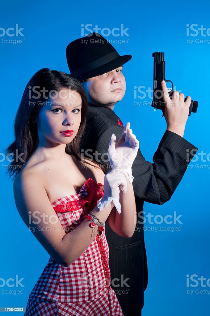 Bonnie and clyde stock photo