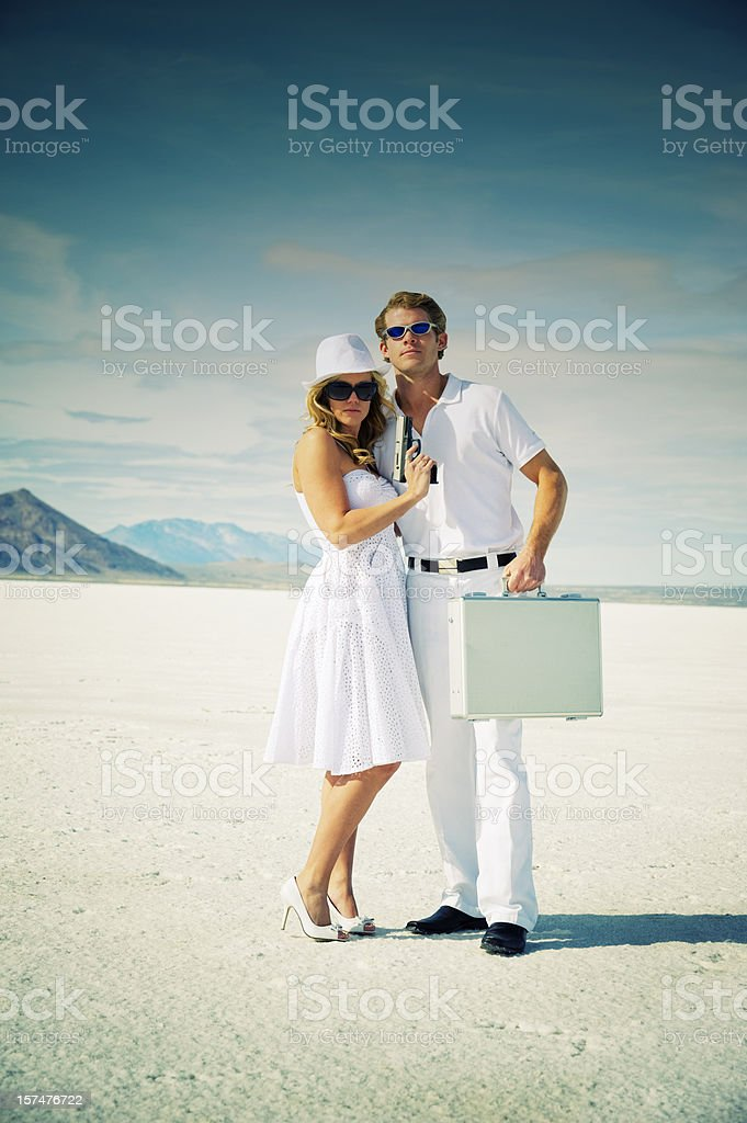 Bonnie & Clyde royalty-free stock photo