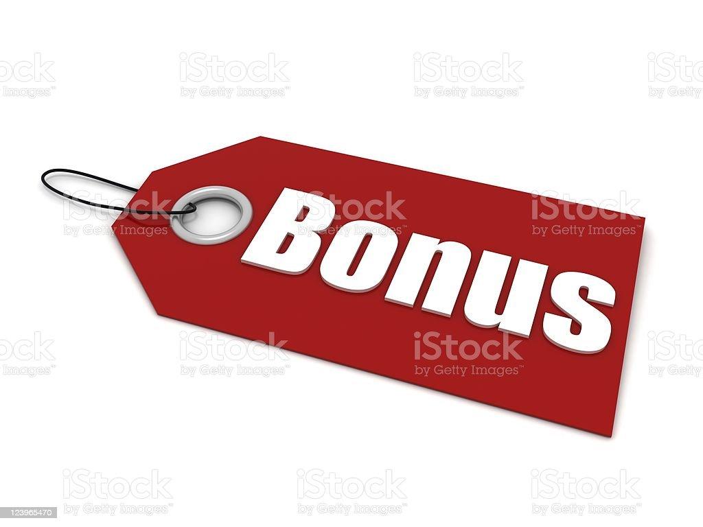Bonus Price Tag royalty-free stock photo
