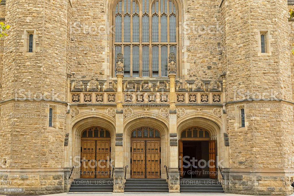 Bonython Hall of the University of Adelaide, partial view, Adelaide stock photo