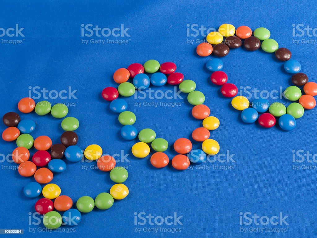 Boo! Chocolate Candy Pieces royalty-free stock photo