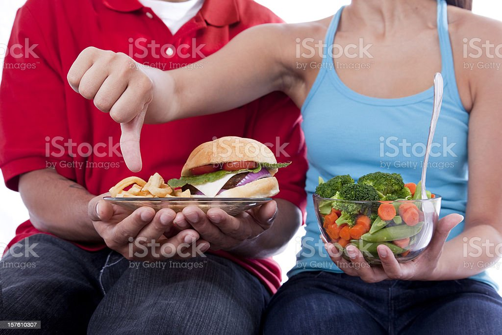 Boo to the Burger and Fries royalty-free stock photo