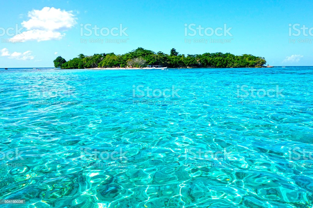 Booby Cay Island in Negril, Jamaica stock photo