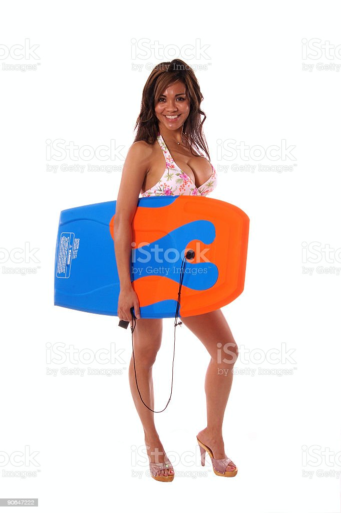 Boogie Board Babe 6 royalty-free stock photo