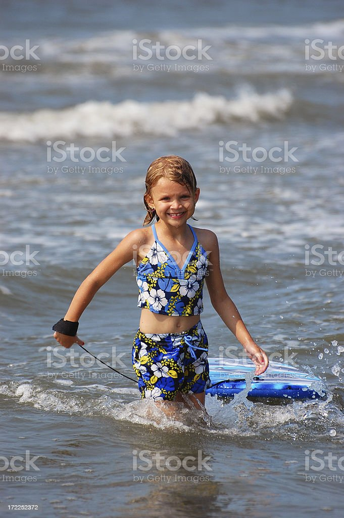 Boogie Board Girl 8 royalty-free stock photo