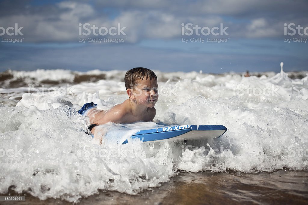 Boogie boarder stock photo