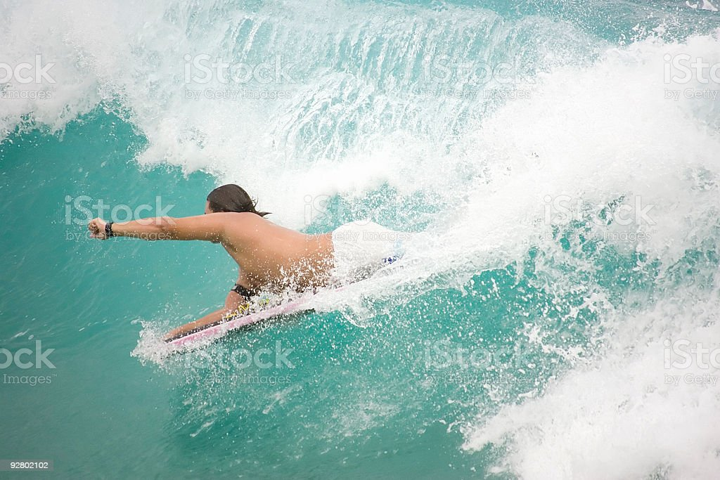 Boogie Boarder Superman royalty-free stock photo