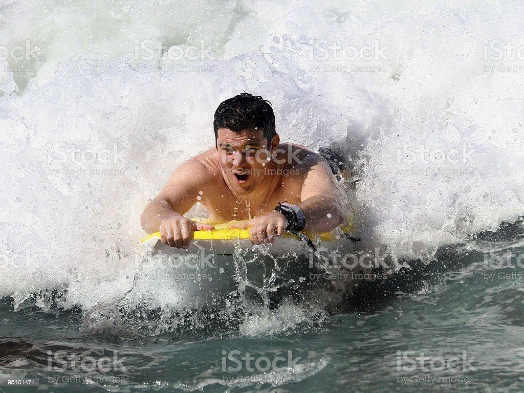 Boogie Boarding stock photo