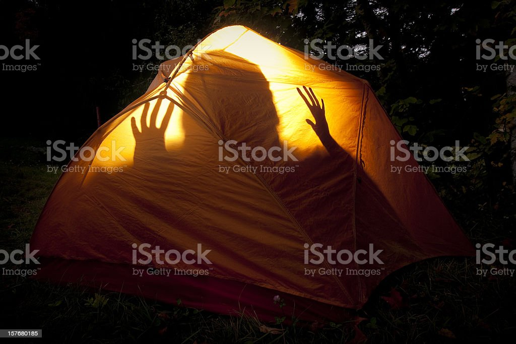 Boogie Monster in the Tent stock photo