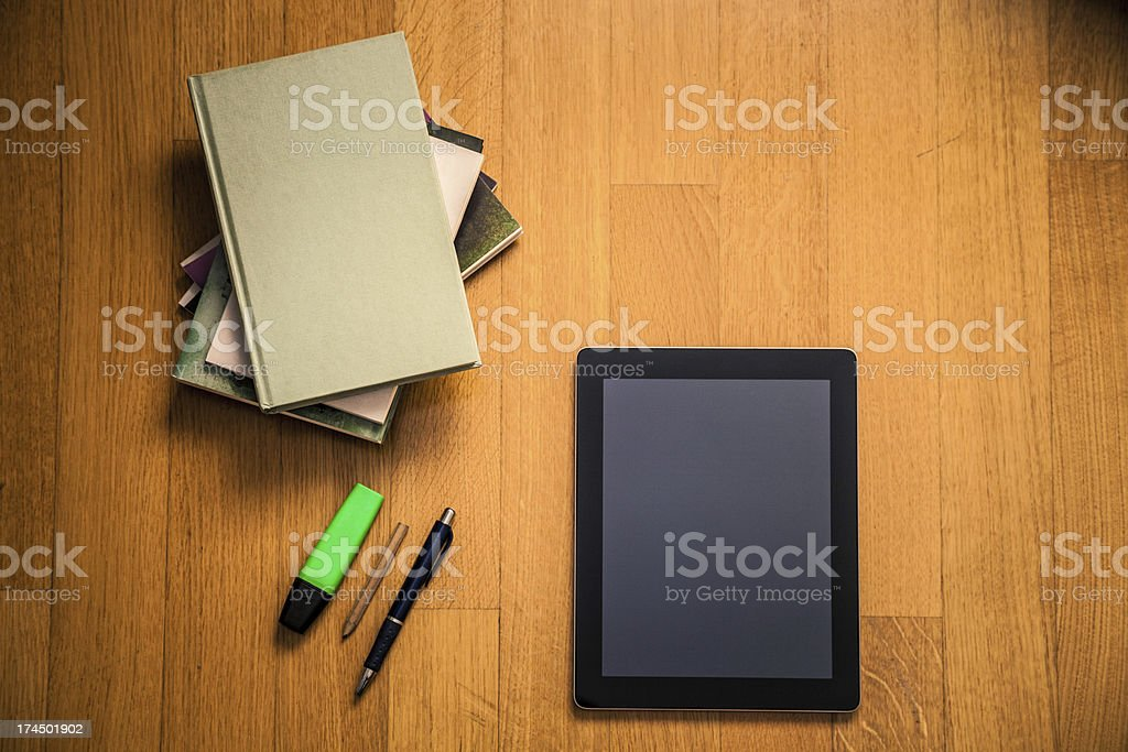 Book and Digital Tablet stock photo