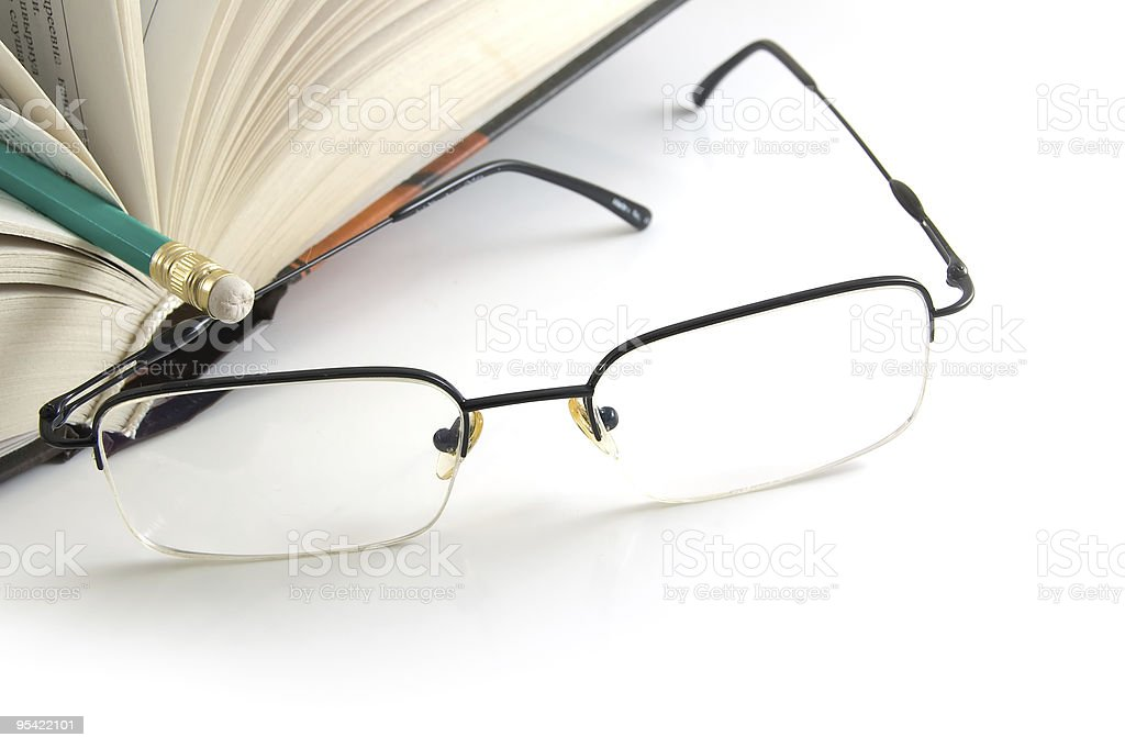 book and glasses royalty-free stock photo