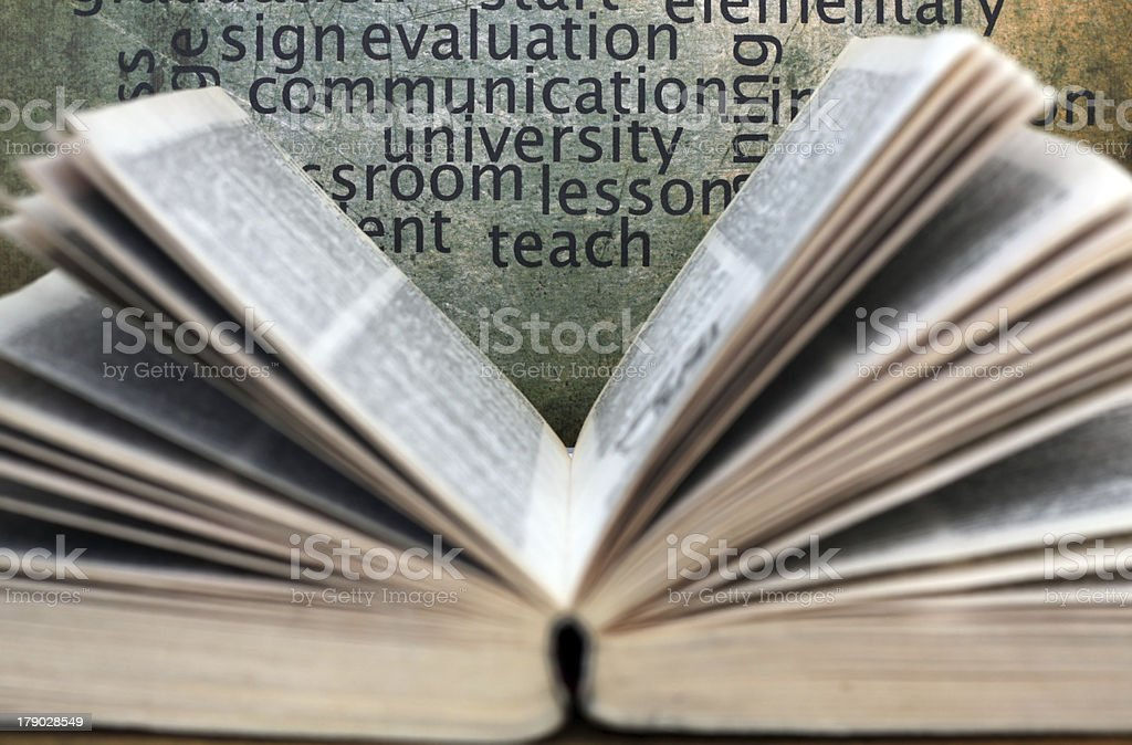 Book and knowledge concept royalty-free stock photo