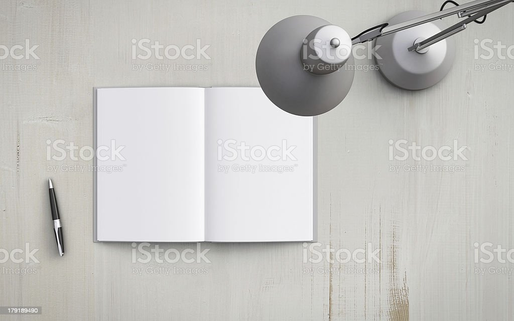 book and  lamp stock photo