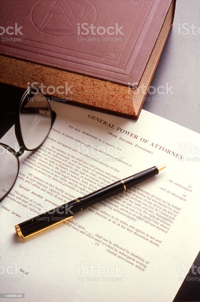Book and Legal Document stock photo