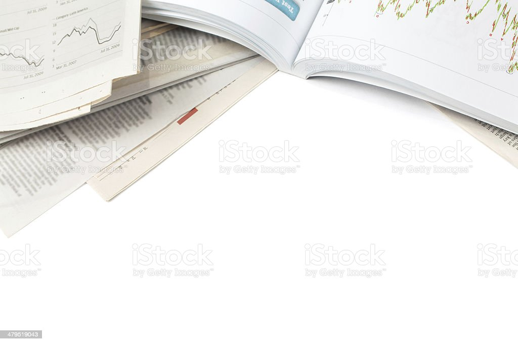 Book and Newspaper stock photo