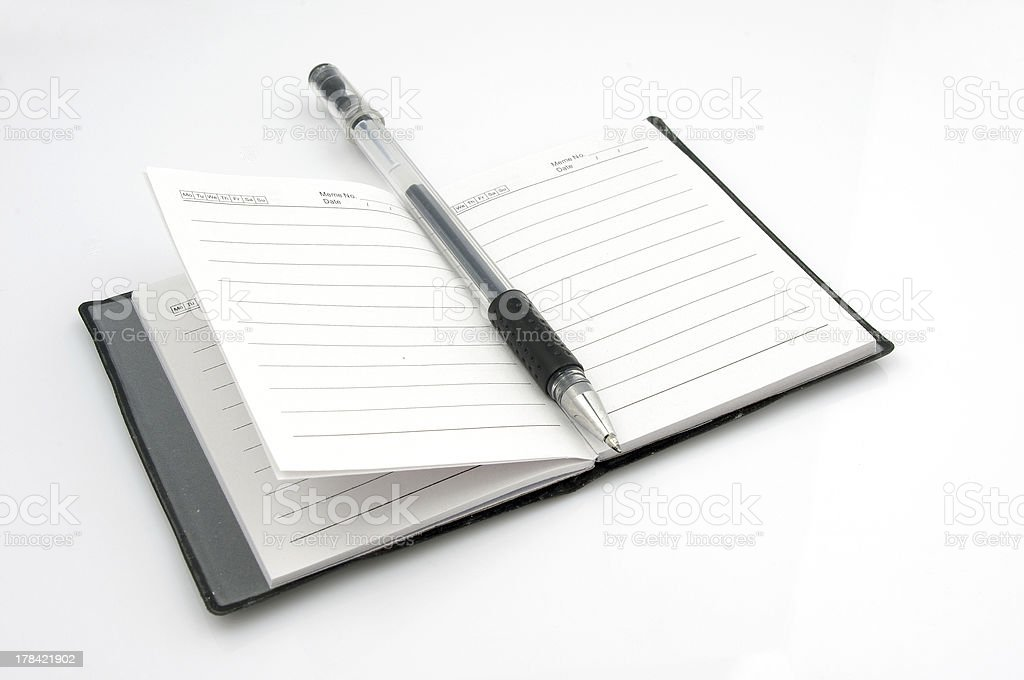 book and pen royalty-free stock photo