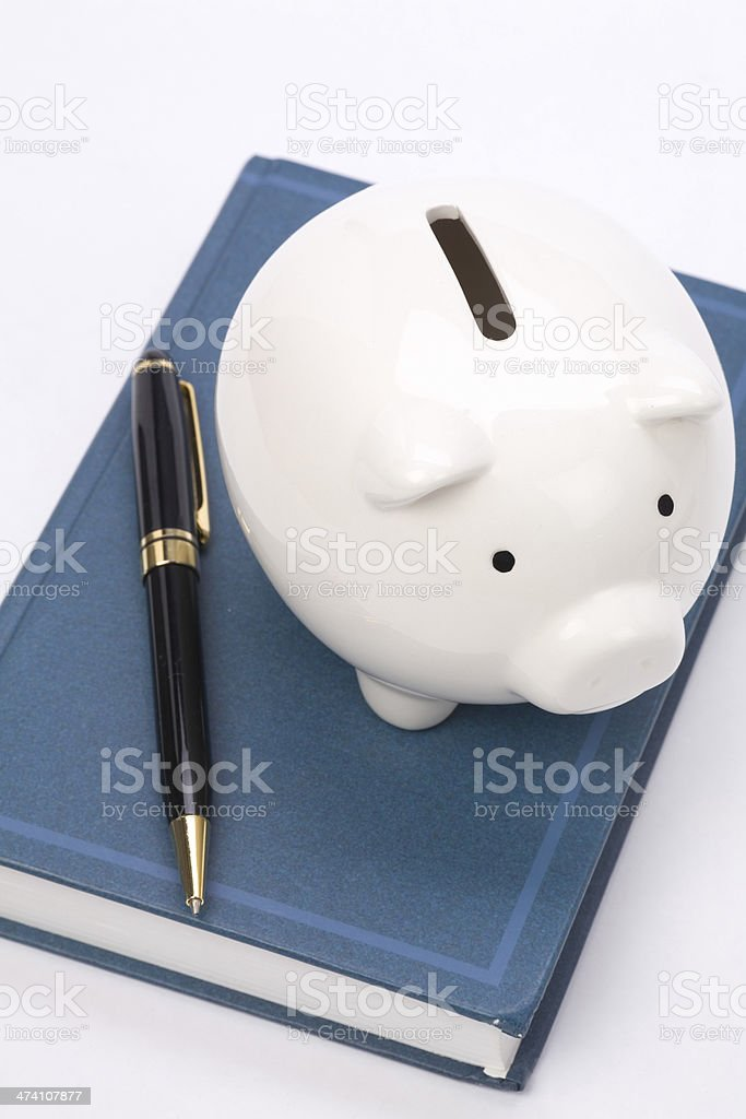 book and Piggy Bank royalty-free stock photo