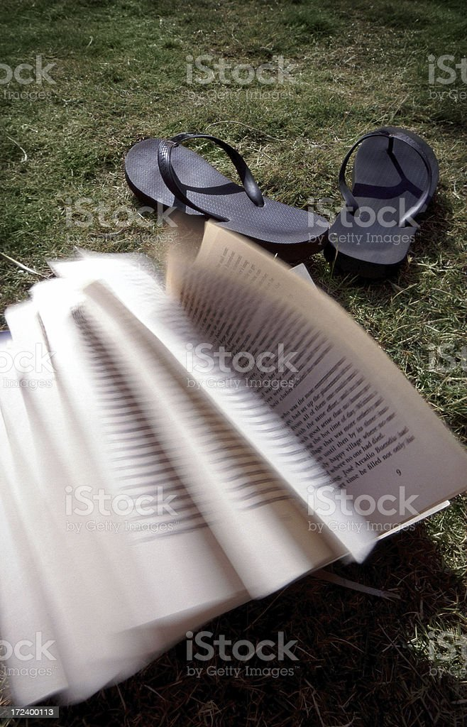 Book and Sandals royalty-free stock photo