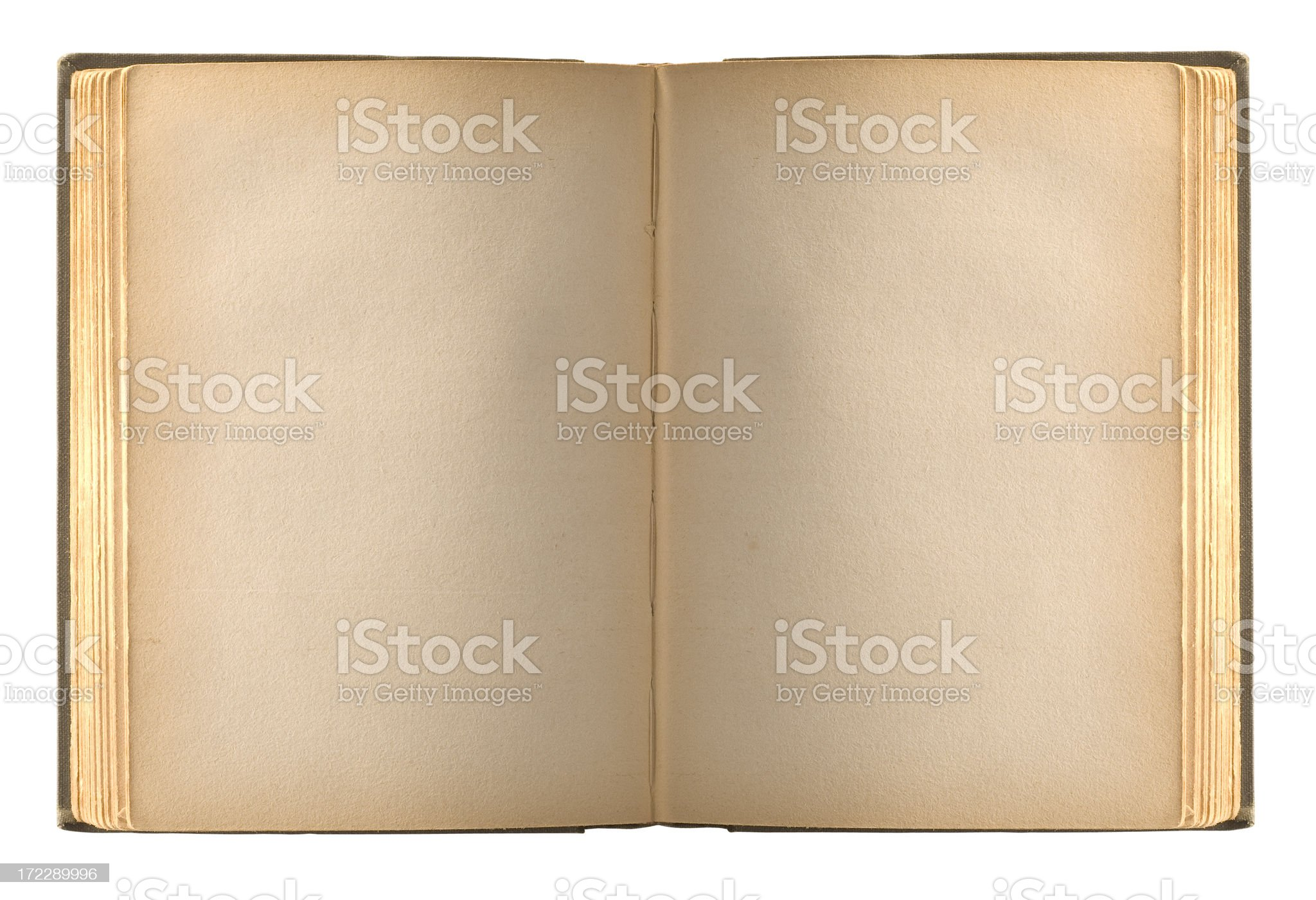 Book blank pages w/clipping path royalty-free stock photo