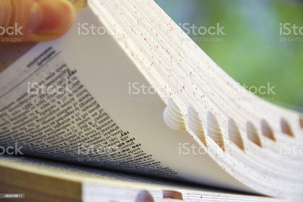 Book browsing royalty-free stock photo