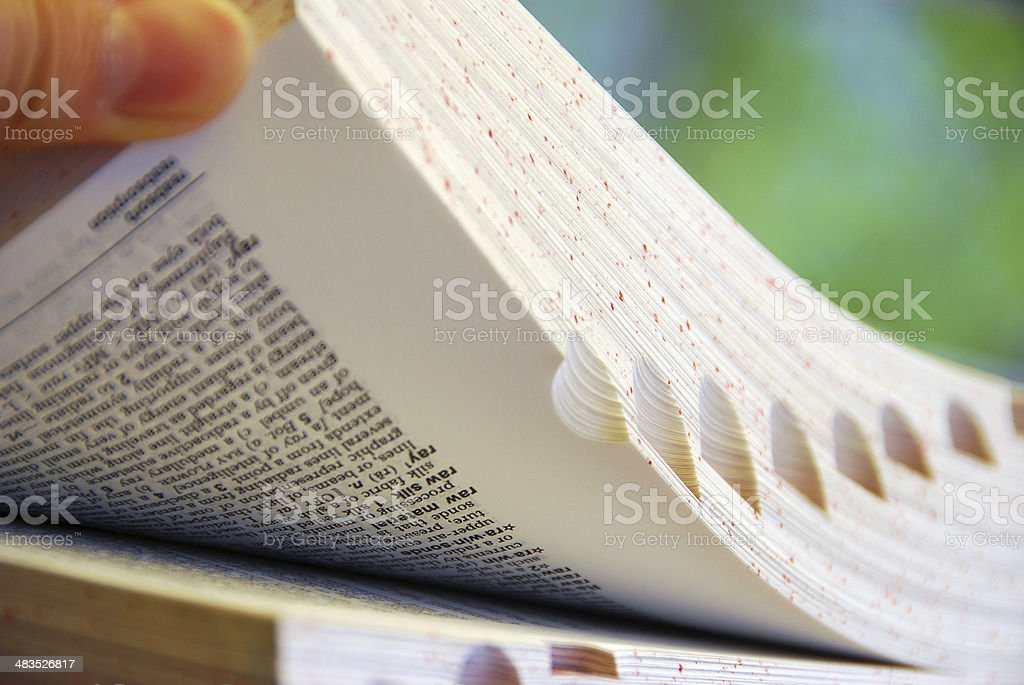 Book browsing stock photo