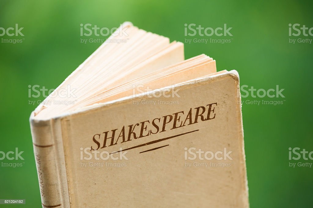 Book by Shakespeare stock photo