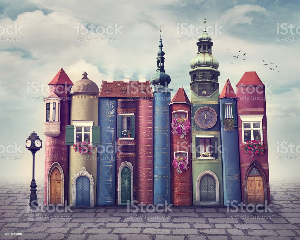 Book city stock photo