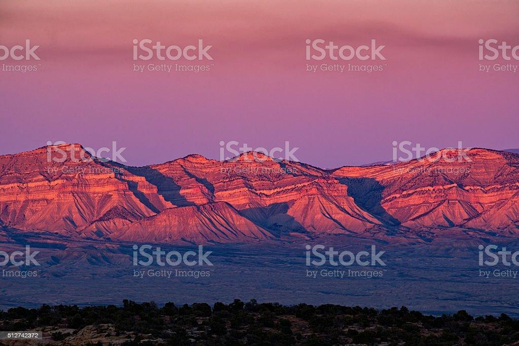 Book Cliffs Fruita Grand Junction Colorado stock photo