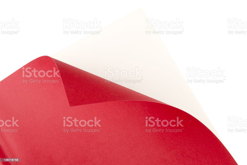 Book corner curl (clipping path included) royalty-free stock photo