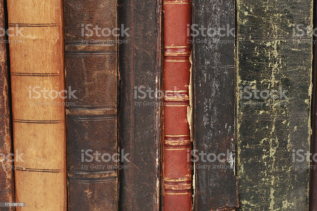 book covers of antique books royalty-free stock photo