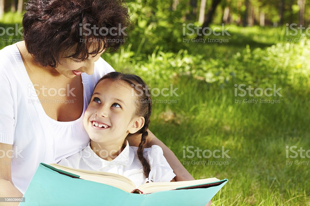 Book discussion royalty-free stock photo