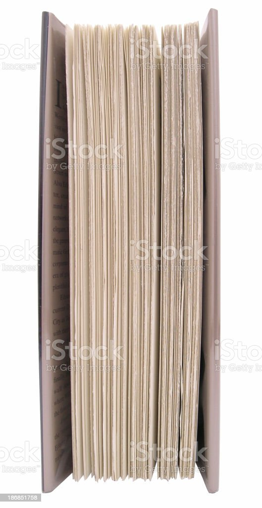 Book - end view royalty-free stock photo