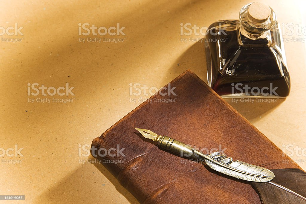 book, feather, ink royalty-free stock photo