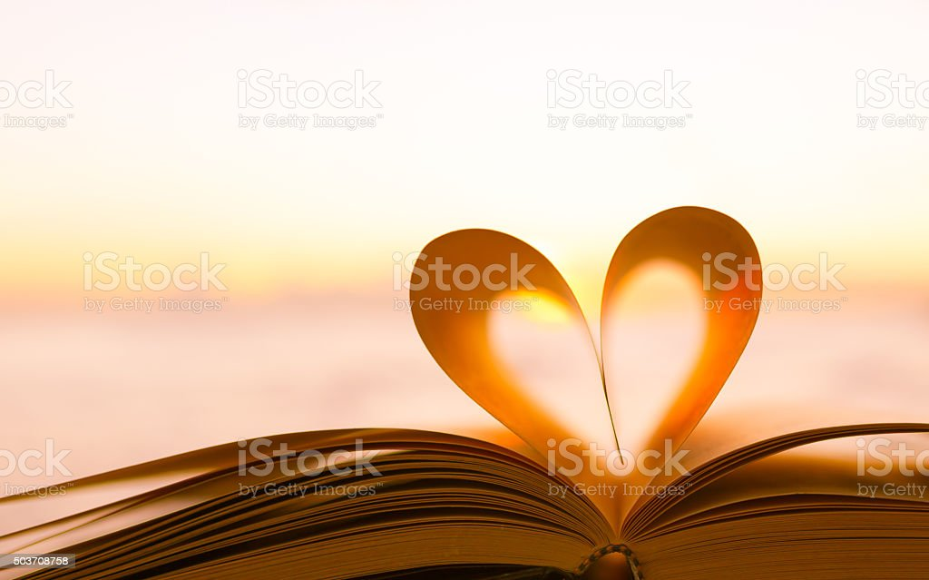 Book heart stock photo