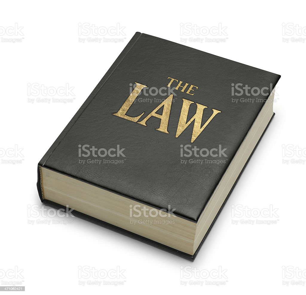 Book Imprinted With The Title 'The Law' royalty-free stock photo