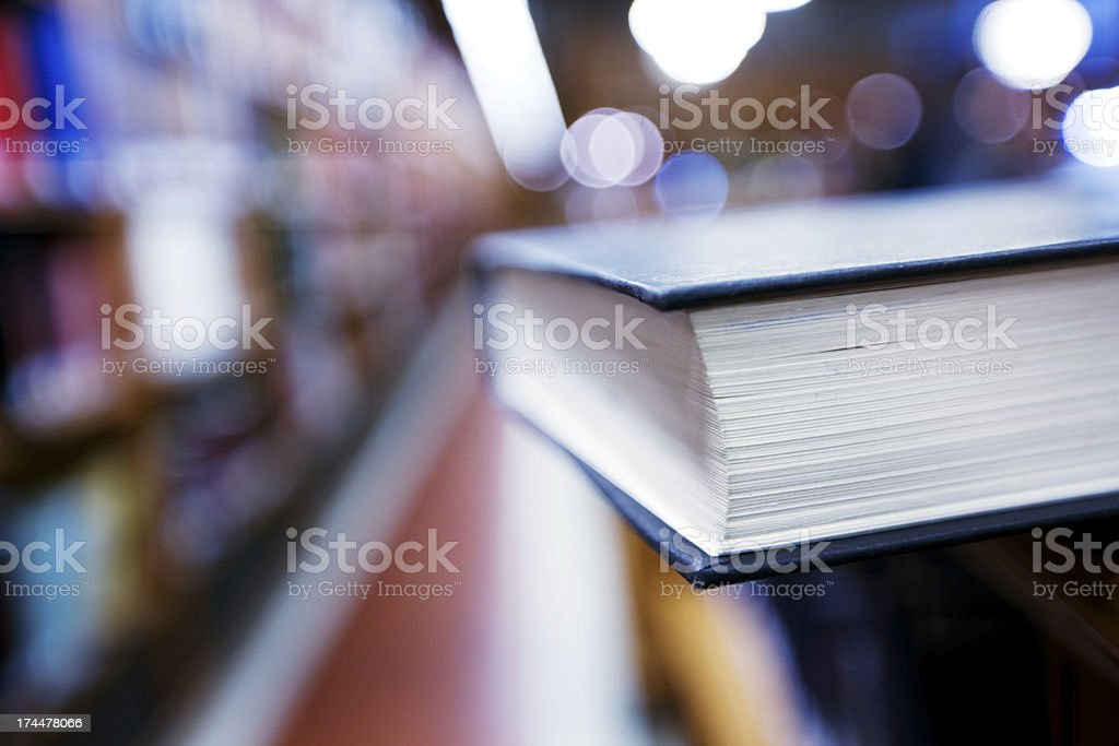 Book in a Library royalty-free stock photo