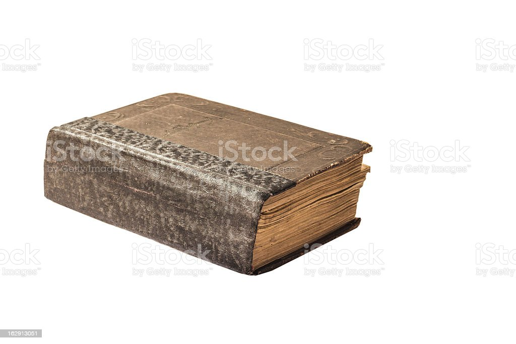 book in brown leather cover royalty-free stock photo