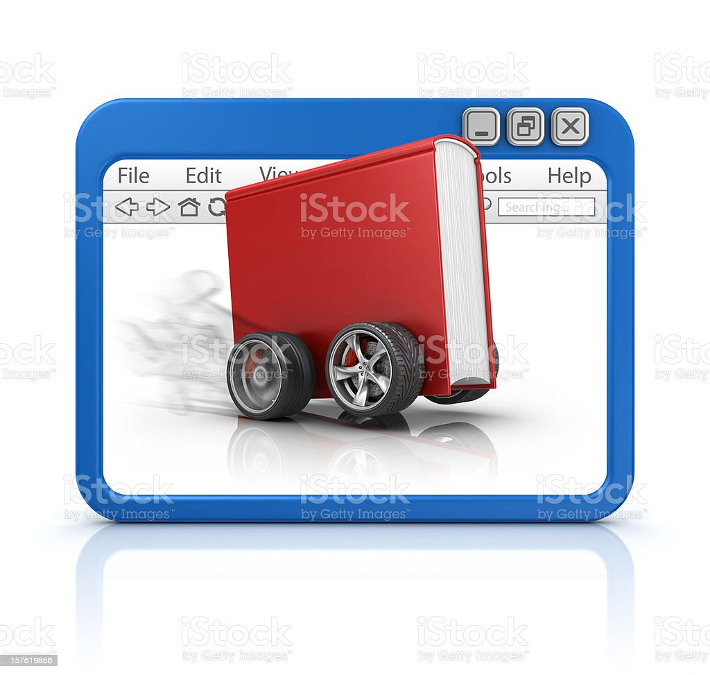 book in browser royalty-free stock photo