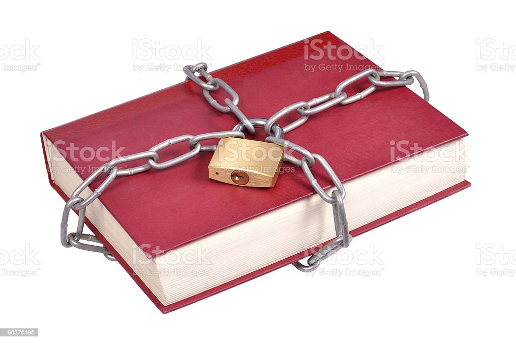 Book in Chains stock photo