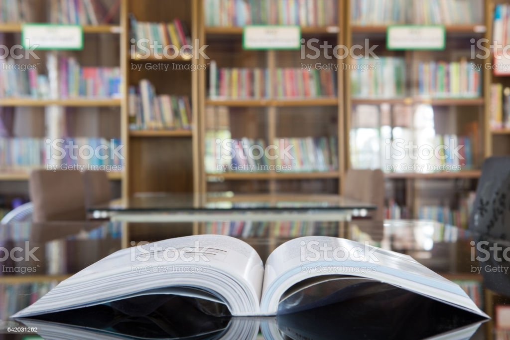 book in library. stock photo