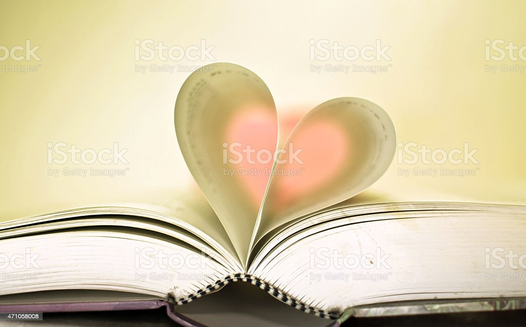 Book is love. stock photo