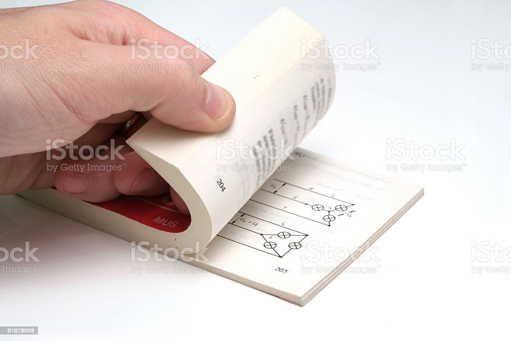Book leafing royalty-free stock photo