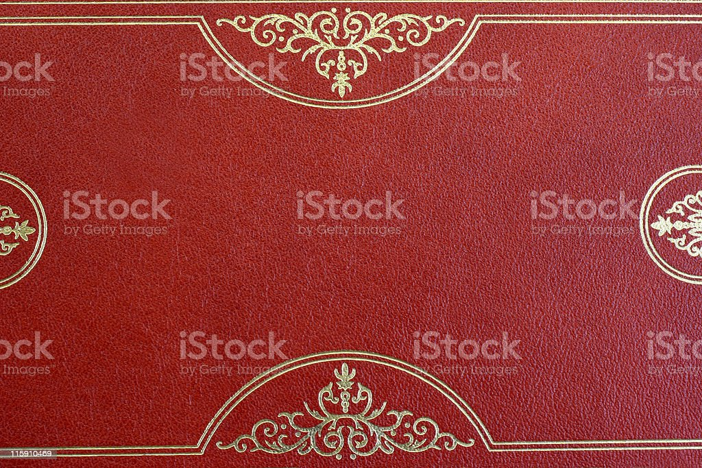 Book leather with gold design for background royalty-free stock photo