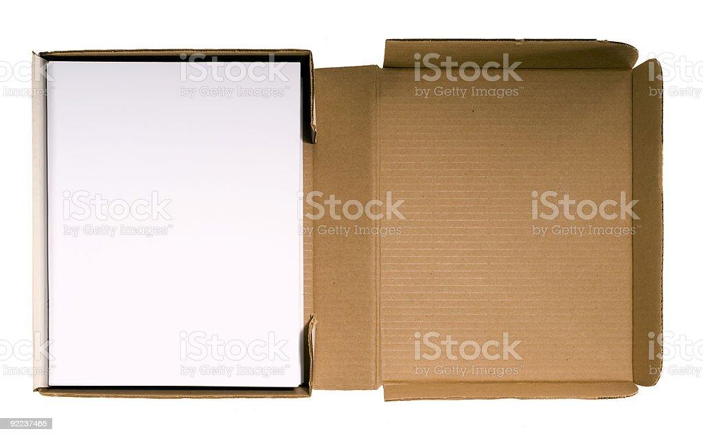 Book Manuscript in Mailing Box royalty-free stock photo